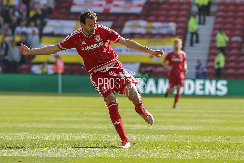 Middlesbrough forward Christian Stuani during the Sky Bet Championship match between Middlesbrough and Leeds United at the Riverside Stadium, Middlesbrough, England on 27 September 2015. Photo by Simon Davies.