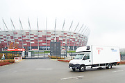 TV broadcast production by Multiproduction at National Stadium on October 17, 2014 in Warsaw, Poland<br /> <br /> Picture also available in RAW (NEF) or TIFF format on special request.<br /> <br /> For editorial use only. Any commercial or promotional use requires permission.<br /> <br /> Mandatory credit:<br /> Photo by &copy; Adam Nurkiewicz / Mediasport