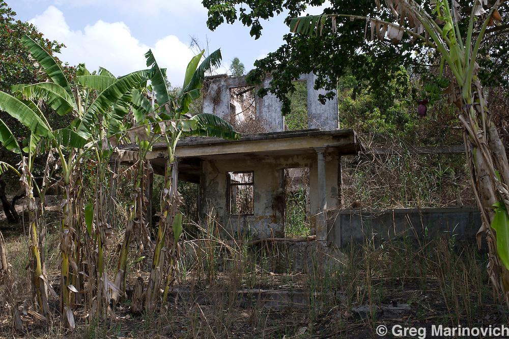 Elephant Pepper Farm, Marracuena, Mozambique. Sept 20, 2011. Original farm house. Photo Greg Marinovich