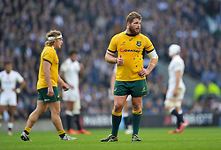 James Slipper of Australia gives a thumbs up - Photo mandatory by-line: Patrick Khachfe/JMP - Mobile: 07966 386802 29/11/2014 - SPORT - RUGBY UNION - London - Twickenham Stadium - England v Australia - QBE Internationals