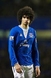 LIVERPOOL, ENGLAND - Wednesday, January 27, 2010: Everton's Marouane Fellaini during the Premiership match against Sunderland at Goodison Park. (Photo by: David Rawcliffe/Propaganda)