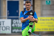 Forest Green Rovers Callum Evans(18) warming up during the Pre-Season Friendly match between Weston Super Mare and Forest Green Rovers at the Woodspring Stadium, Weston Super Mare, United Kingdom on 18 July 2017. Photo by Shane Healey.