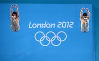 Olympia 2012 London   Aquatics Centre  28.07.2012 Feature Springen vom 3-Meter-Brett.