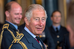 Prince of Wales attends a reception at Buckingham Palace, London to mark the centenary of the Royal Air Force.