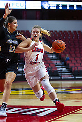 NORMAL, IL - October 30: McKenna Sims defended by Julia Ruzevich during a college women's basketball game between the ISU Redbirds and the Lions on October 30 2019 at Redbird Arena in Normal, IL. (Photo by Alan Look)