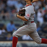 Mike Leake, Cincinnati Reds, pitching during theNew York Yankees Vs Cincinnati Reds baseball game at Yankee Stadium, The Bronx, New York. 18th July 2014. Photo Tim Clayton