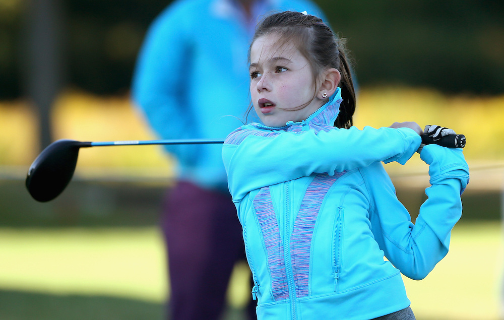 BROOKLINE, MA - SEPTEMBER 25:  Third place winner Jolie Pastorick in the girls 7-9 Overall Competition in action during a regional round of the Drive, Chip, and Putt Championship at The Country Club on September 25, 2016 in Brookline, Massachusetts.  (Photo by Billie Weiss/Getty Images for DC&P Championship/Getty Images)