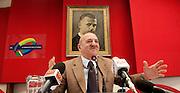 2013/01/18 Roma, la UIL presenta la propria agenda da presentare alle forze politiche in occasione della campagna elettorale. Nella foto il segretario generale Luigi Angeletti..Rome, leader of UIL union Luigi Angeletti