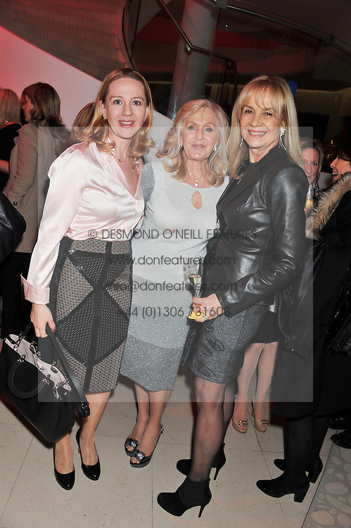 Left to right, TATIANA PISKOV, LIZ BREWER and NIKI COLE at the London Design Week 2013 Party, held at the Design Centre, Chelsea Harbour, London SW10 on 18th March 2013.