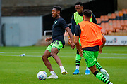 Forest Green Rovers Ebou Adams(14) warming up  during the EFL Sky Bet League 2 match between Port Vale and Forest Green Rovers at Vale Park, Burslem, England on 20 August 2019.