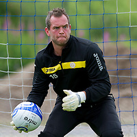 St Johnstone keeper Alan Mannus pictured during training...<br /> Picture by Graeme Hart.<br /> Copyright Perthshire Picture Agency<br /> Tel: 01738 623350  Mobile: 07990 594431