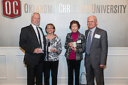 February 23, 2016: The Oklahoma Christian University Eagles hosts the athletic Hall of Fame induction banquet.