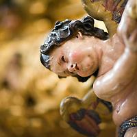 Carved angel from the float of Jesus del Gran Poder, Seville, Spain