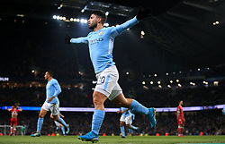 Sergio Aguero of Manchester City celebrates  - Mandatory by-line: Matt McNulty/JMP - 09/01/2018 - FOOTBALL - Etihad Stadium - Manchester, England - Manchester City v Bristol City - Carabao Cup Semi-Final First Leg