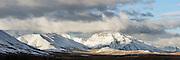 Stitched high resolution picture of Double Mountain, Denali, Alaska | Høyoppløslig panorama av Double Montain fjellet sett fra Denali, Alaska.