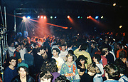 People at a rave, UK, 1980s