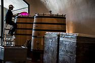 Pumpover of syrah at Saxum Vineyard, Paso Robles, California