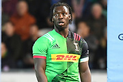 Harlequins wing Gabriel Ibitoye (11) during the Gallagher Premiership Rugby match between Northampton Saints and Harlequins at Franklins Gardens, Northampton, United Kingdom on 1 November 2019.