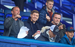 BIRKENHEAD, ENGLAND - Sunday, September 10, 2017: Liverpool's Under-18 manager Steven Gerrard with coach Ian Dunbavin [L] and U18 assistant manager Tom Culshaw [R] at the Under-23 FA Premier League 2 Division 1 match between Liverpool and Manchester City at Prenton Park. (Pic by David Rawcliffe/Propaganda)