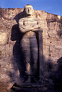 SRI LANKA, ANCIENT CULTURE Polonnaruwa, Gal Vihara 12th century, rock cut Buddha, 22 feet tall