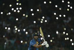 March 10, 2018 - Colombo, Sri Lanka - Sri Lankan cricket captain Dinesh Chandimal plays a shot during the 3rd T20 cricket match of NIDAHAS Trophy between Sri Lanka  and Bangladesh at R Premadasa cricket ground, Colombo, Sri Lanka on Saturday 10 March 2018. (Credit Image: © Tharaka Basnayaka/NurPhoto via ZUMA Press)