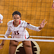 26 August 2016: The San Diego State Aztecs took on the Marist Red Foxes to open up the season.  The Aztecs swept the Red Foxes 3-0 in their opening match of the Aztec Invitational at Peterson Gym on the campus of SDSU. www.sdsuaztecphotos.com