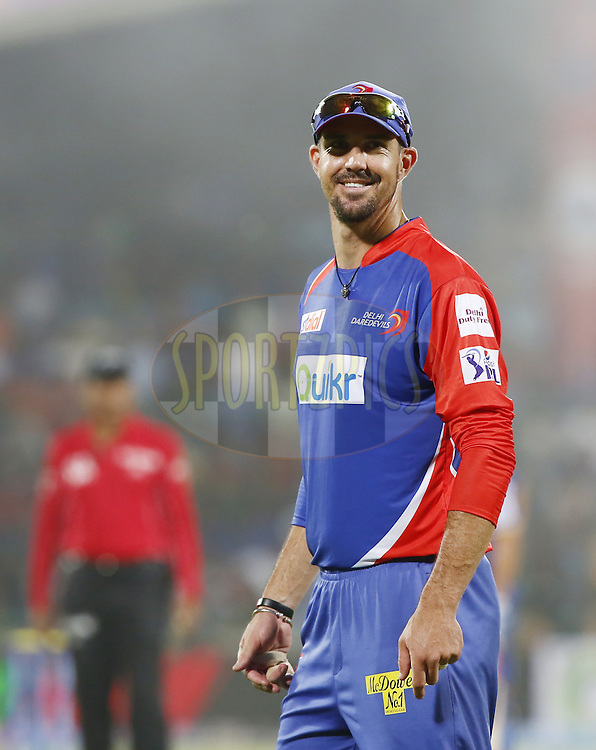Kevin Pietersen captain of of the Delhi Daredevils during match 23 of the Pepsi Indian Premier League Season 2014 between the Delhi Daredevils and the Rajasthan Royals held at the Feroze Shah Kotla cricket stadium, Delhi, India on the 3rd May  2014<br /> <br /> Photo by Deepak Malik / IPL / SPORTZPICS<br /> <br /> <br /> <br /> Image use subject to terms and conditions which can be found here:  http://sportzpics.photoshelter.com/gallery/Pepsi-IPL-Image-terms-and-conditions/G00004VW1IVJ.gB0/C0000TScjhBM6ikg
