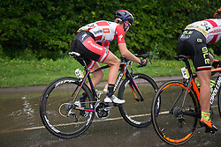 With 20 km to go, Malgorzata Jasinska (POL) of Ale-Cipollini Cycling Team and Amalie Dideriksen (DEN) of Boels-Dolmans Cycling Team puts a 50 second gap between them and the peloton during the Aviva Women's Tour 2016 - Stage 2. A 140.8 km road race from Atherstone to Stratford upon Avon, UK on June 16th 2016.
