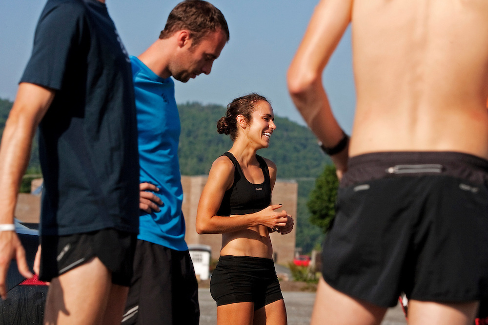 Zap Fitness athletes prepare for a morning training session in Boone, NC..