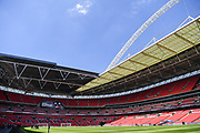 Wembley Stadium ahead of the FA Community Shield match between Chelsea and Manchester City at Wembley Stadium, London, England on 5 August 2018. Picture by Stephen Wright.