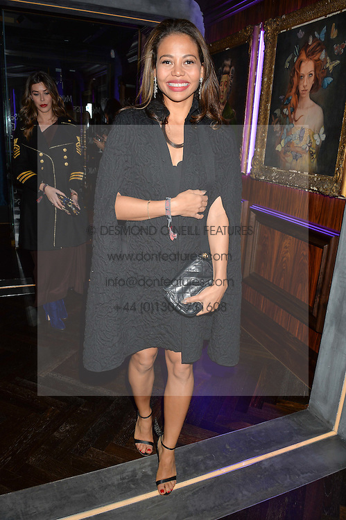 VISCOUNTESS WEYMOUTH at the launch of MNKY HSE Restaurant, 10 Dover Street, London on 19th October 2016.