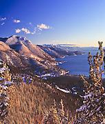 Lake Tahoe Scenic East Shore Winter