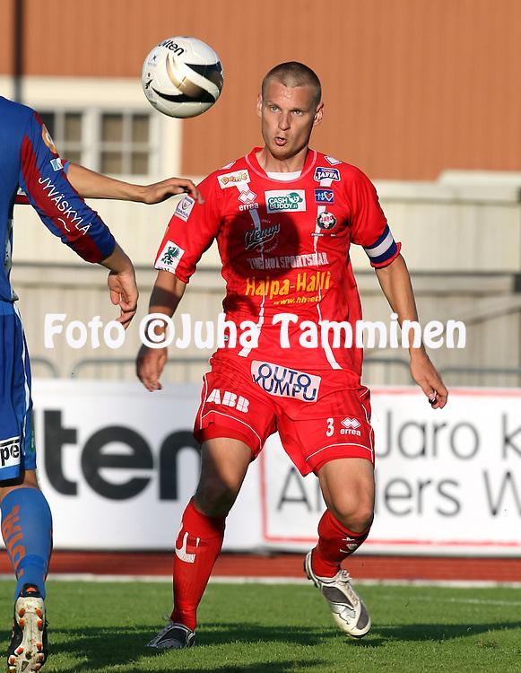 5.8.2012, Keskuskentt?, Pietarsaari..Veikkausliiga 2012..FF Jaro - JJK Jyv?skyl?..Heikki Aho - Jaro