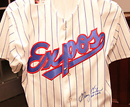 This Montreal Expos jersey, signed by Gary Carter was available in the silent auction at the 17th Artemis Center Gala, Saturday night.