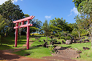 Japanese Garden, Kukuiolono Park and Golf Course, Kalaheo, Kauai, Hawaii