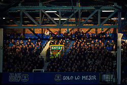 LIVERPOOL, ENGLAND - Saturday, January 4, 2014: Everton supporters during the FA Cup 3rd Round match against Queens Park Rangers at Goodison Park. (Pic by David Rawcliffe/Propaganda)