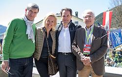 20.04.2016, Aras, AUT, 40. Giro del Trentino Melinda, 2. Etappe von Arno nach Aras, im Bild Maurizio Evangelista (OK Chef), Astrid Trojer-Pirker (OK TEAM), Franz Theurl (TVBO Obmann), Giacomo Santini (Ehrenpräsident) // during the 2nd stage from Arco to Anras of 40th Giro del Trentino. Auras, Austria on 2015/04/20. EXPA Pictures © 2015, PhotoCredit: EXPA/ Johann Groder