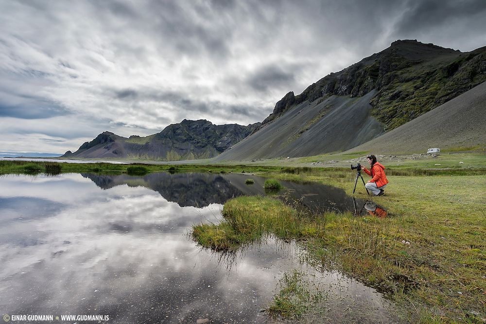 Austurhorn in South-east Iceland. Completely no wind, mirrors everywhere.