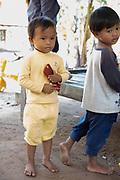 Two boys playing. Angkor Wat, Siem Reap, Cambodia.
