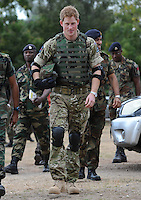 Prince Harry visits the Jamaican Defence Force, Kingston, Jamaica, on the 7th March 2012.<br /> PICTURE BY JAMES WHATLING
