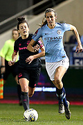 Manchester City midfielder Jill Scott (8) during the FA Women's Super League match between Manchester City Women and Everton Women at the Sport City Academy Stadium, Manchester, United Kingdom on 20 February 2019.