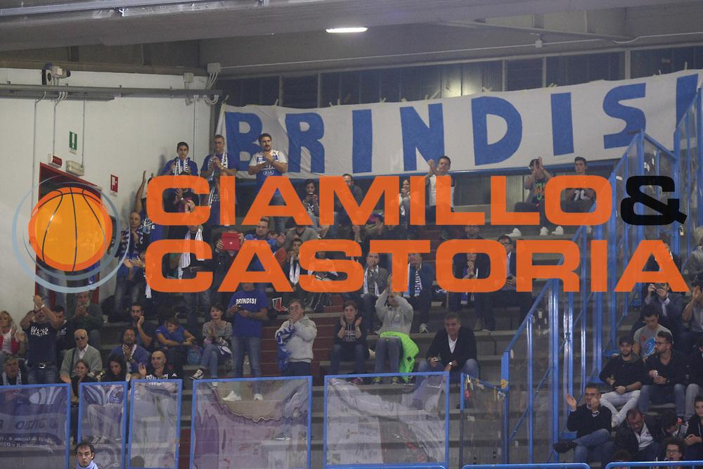 DESCRIZIONE : Cremona Lega A 2014-2015 Vanoli Cremona ENEL Brindisi<br /> GIOCATORE : Tifosi Supporters<br /> SQUADRA : ENEL Brindisi<br /> EVENTO : Campionato Lega A 2014-2015<br /> GARA : Vanoli Cremona ENEL Brindisi<br /> DATA : 16/11/2014<br /> CATEGORIA : Tifosi Supporters<br /> SPORT : Pallacanestro<br /> AUTORE : Agenzia Ciamillo-Castoria/F.Zovadelli<br /> GALLERIA : Lega Basket A 2014-2015<br /> FOTONOTIZIA : Cremona Campionato Italiano Lega A 2014-15 Vanoli Cremona ENEL Brindisi<br /> PREDEFINITA : <br /> F Zovadelli/Ciamillo