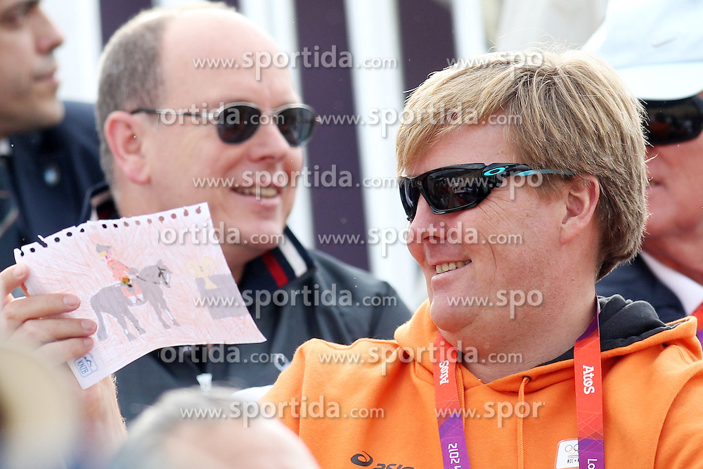 Olympics - London 2012 Olympic Games - Greenwich Park - 6/8/12.Equestrian - Team Jumping - General view.Prince Albert II of Monaco and Willem Alexander of the Netherlands.© pixathlon  Prinz, Fuerst, Koenigsfamile Prinzen