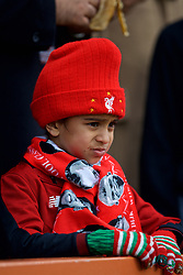 BOURNEMOUTH, ENGLAND - Saturday, December 8, 2018: A young Liverpool supporter before the FA Premier League match between AFC Bournemouth and Liverpool FC at the Vitality Stadium. (Pic by David Rawcliffe/Propaganda)