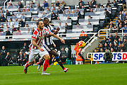 during the Barclays Premier League match between Newcastle United and Stoke City at St. James's Park, Newcastle, England on 31 October 2015. Photo by Craig McAllister.