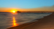 Sunset at Newport Beach Pier with Catalina View