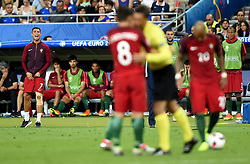 Cristiano Ronaldo of Portugal calls for who he wants to take the free kick  - Mandatory by-line: Joe Meredith/JMP - 10/07/2016 - FOOTBALL - Stade de France - Saint-Denis, France - Portugal v France - UEFA European Championship Final