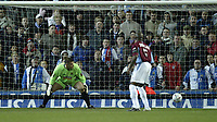 Photo Aidan Ellis, Digitalsport<br /> Blackburn Rovers v Burnley.<br /> FA Cup 5th round replay.<br /> Ewood Park.<br /> 01/03/2005.<br /> Burnley keeper Brian Jensen can only watch as tugay's shot goes ion for Blackburn's first goal