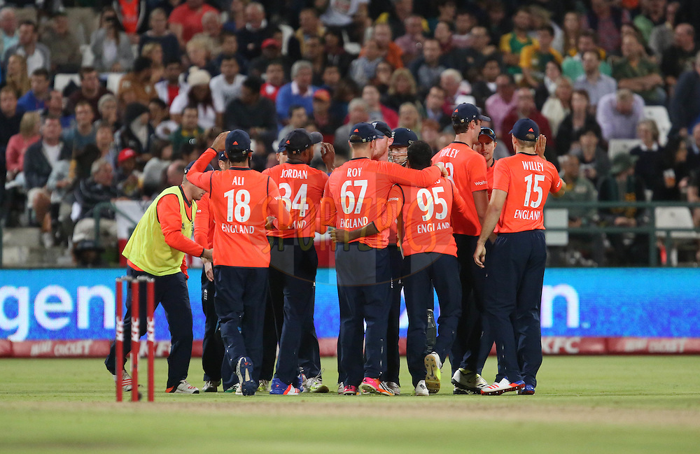 English team  during the First KFC T20 Match between South Africa and England played at Newlands Stadium, Cape Town, South Africa on February 19th 2016