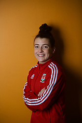 NEWPORT, WALES - Thursday, January 17, 2019: Wales' Angharad James during a media session at the Coldra Court Hotel ahead of the International Friendly game against Italy. (Pic by David Rawcliffe/Propaganda)